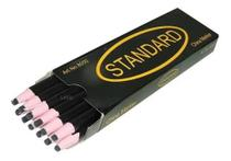 Lápis Preto Descascável Para Marcar Tecido - 12 Unidades - Standard