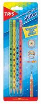 Lápis preto Glitter Kit com 4 unidades - Tris -