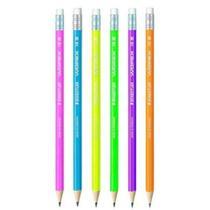 Lápis Preto N2 com Borracha Neon Staedtler Wopex - Tris