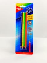 Lápis Preto Neon 4 Unidades Tris II -
