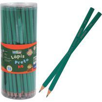 Lapis Preto Sextavado Verde HB Pote com 72 - GNA
