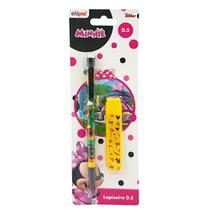 Lapiseira escolar minnie 0.5mm com tubo de graffite - etipel - Etilux