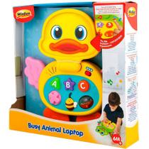 Laptop Baby Patinho Com Som Português 8000-55 WinFun -