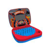 Laptop Infantil Para Crianças Hot Wheels Vermelho e Azul Candide -