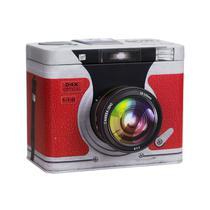 Lata Decorativa Câmera em Metal - Tudoprafoto