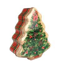 Lata Decorativa de Natal Árvore Enfeite Papai Noel - Nova