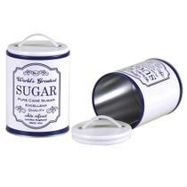 Lata Redonda Branca Fosca Enfeite Açúcar Sugar - Globimport
