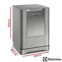 Lava-Louças Electrolux Inox com 14 Serviços, 06 Programas de Lavagem e Painel Blue Touch - LV14X -