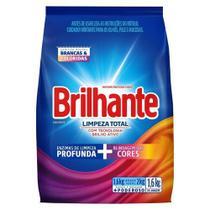 Lava-Roupas em Pó Brilhante Limpeza Total Pacote 1,6kg - Brilante