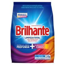Lava-Roupas em Pó Brilhante Limpeza Total Pacote 2,4kg -