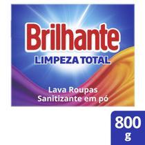 Lava-Roupas Pó Roupas Brancas/Coloridas Limpeza Total Cx800G - Brilhante