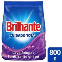 Lava Roupas Sanitizante em Pó Brilhante Cuidado Total 800g -