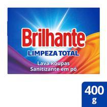 Lava Roupas Sanitizante em Pó Brilhante Limpeza total 400g -
