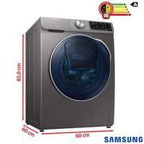 Lava & Seca 10,2 Kg Samsung QDrive com Smart Control, AddWash, Inox, 14 Programas de Lavagem - WD10N64FOOX -