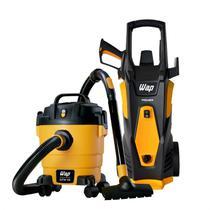 Lavadora de Alta Pressão Premier 2600 1800W e Aspirador de Água e Pó GTW 10 127V WAP Amarelo -
