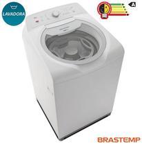 Lavadora de Roupas Brastemp 15kg Double Wash Branco com 07 Programas de Lavagem e Enxague Anti Alérgico - BWD15AB -