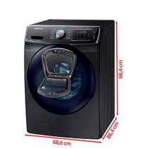 Lavadora de Roupas Samsung AddWash 15 Kg Prata com 13 Programas de Lavagem e EcoBubble - WF15K6500AV/AZ -