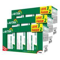 Lavitan 3x Cabelos Unhas 30 Caps Kit Promocional 3 Frascos - Cimed