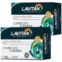 Lavitan Kit 2x Cabelos E Barba 60 Caps -