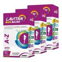 Lavitan Kit 3x Mais A-z Mulher 90 Comp - Cimed