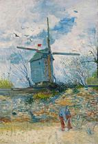Le Moulin de la Galette (1887) - Vincent van Gogh - 30x44 - Tela Canvas Para Quadro - Santhatela