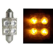 LED Torpedo 36MM 12V - 4 LED 10W - Amarelo (AP170) - Autopoli
