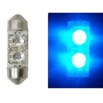LED Torpedo 36MM 24V - 2 LED 5W - Azul (AP286) - Autopoli