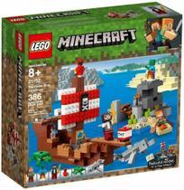 Lego 21152 Minecraft  A Aventura Do Barco Pirata  386 peças -