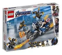 Lego 76123 Vingadores Ultimato  Capitão América Moto Ataque Outriders  167 peças -