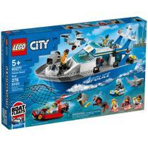 Lego Barco Patrulha da Polícia Marinha Com Tubarão 60277 -