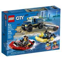 Lego City Barco de Transporte da Polícia com 166 peças 60272 -