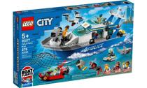 Lego City Barco Patrulha da Polícia 276 Peças 60277 -