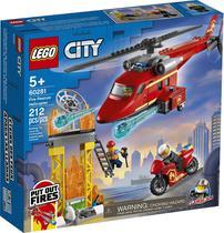 Lego city helicoptero de resgate dos bombeiros 60281 -