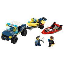 Lego City -transporte De Barco Da Policia De Elite -