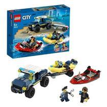 Lego City Transporte De Barco Polícia De Elite - Lego 60272 -