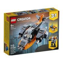 LEGO Creator 3-in-1 Cyber Drone Nave Robô 113 Peças 31111 -