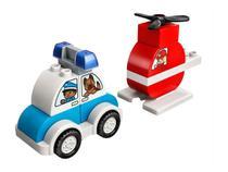 LEGO Duplo Helicóptero dos Bombeiros - e Carro da Polícia 14 Peças 10957