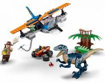 LEGO Jurassic World - Velociraptor: Missão de Resgate com Biplano - 101 peças - 75942 -