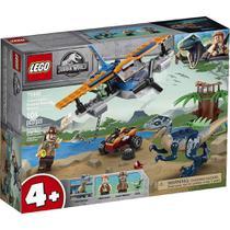 LEGO Jurassic World Velociraptor: Missão de Resgate com Biplano -