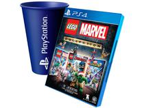 LEGO Marvel Collection para PS4 - TT Games + Copo PlayStation Azul