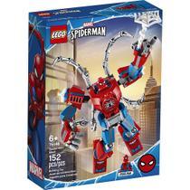 Lego Marvel Super Heroes Robô Spider Man com 152 Peças 76146 -