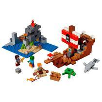 LEGO Minecraft  A Aventura do Barco Pirata 21152 - LEGO -