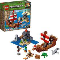 Lego Minecraft A Aventura Do Barco Pirata  21152 Original -