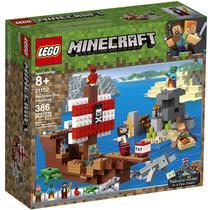 Lego Minecraft A Aventura do Barco Pirata 386 Peças 21152 -