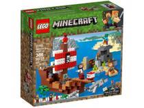 LEGO Minecraft A Aventura do Barco Pirata - 386 Peças 21152 -