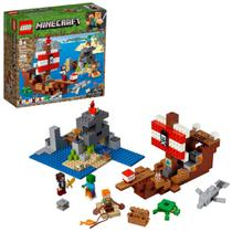 Lego Minecraft a Aventura do Barco Pirata 386 Pecas Ref. 21152 -