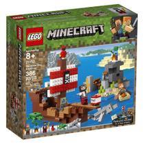 LEGO Minecraft - A Aventura do Barco Pirata - Lego 21152 -