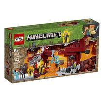 Lego Minecraft A Ponte Flamejante 372 Peças 21154 -