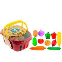 Legumes de Brinquedo Cesta Mercadinho Infantil Braskit Brinquedos -