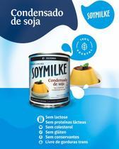 Leite condensado de soja vegano sem glúten soymilke 330g - Olvebra
